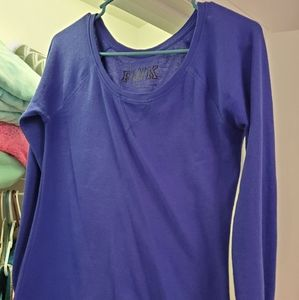 Pink by VS blue thermal tee